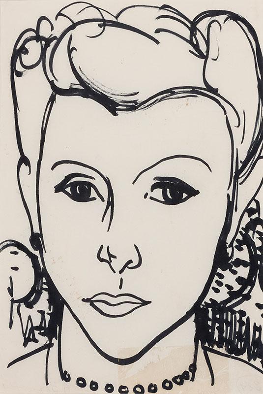 WOLFE Edward R.A. L.G. (1897-1982) - Head of a girl.