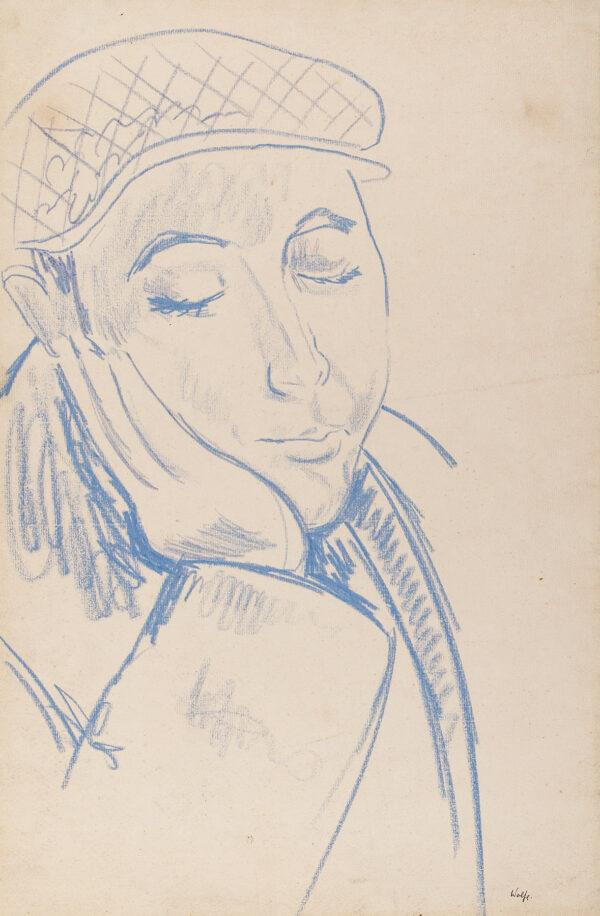 WOLFE Edward R.A. L.G. (1897-1982) - 'Man's head, Ronda Café'.