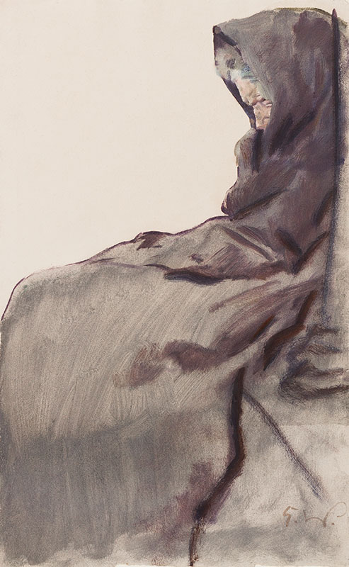 WOLFSFELD Erich (1884-1956) - A cloaked beggar.