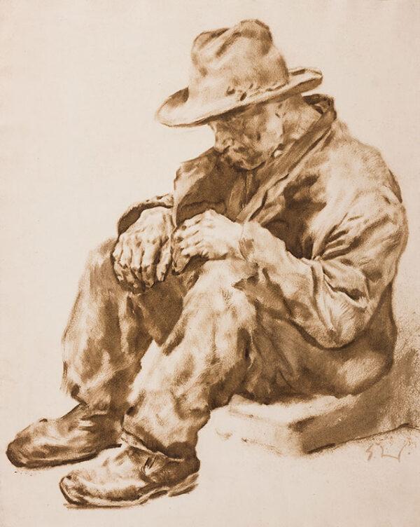 WOLFSFELD Erich (1884-1956) - Hungry Man.