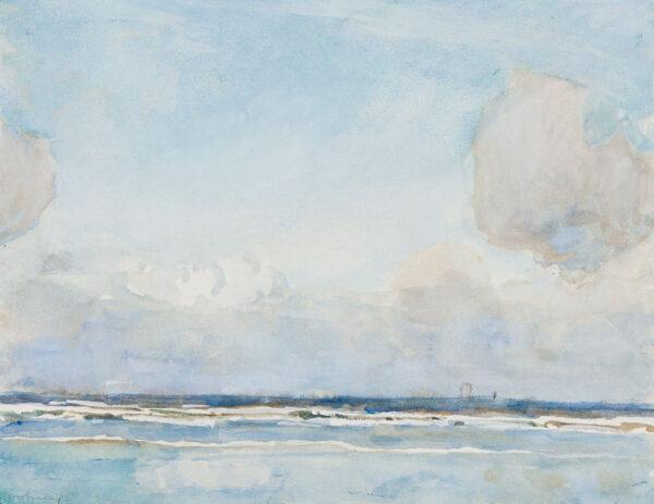WOLSELEY Garnet Ruskin (1884-1967) - Cornwall: 'Off Newlyn'.