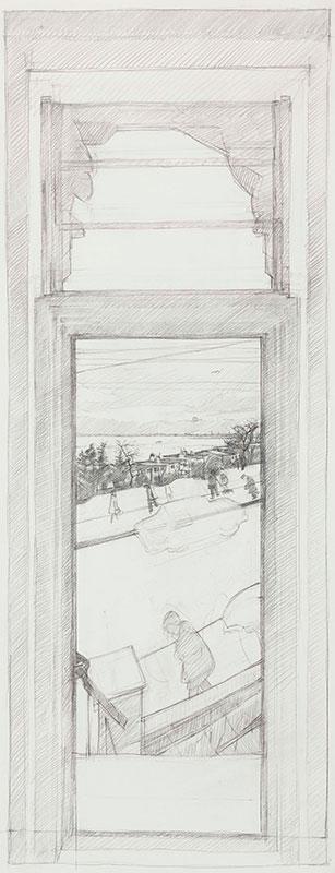 WONNACOTT John C.B.E. (b.1940) - 'Estuary Window Sketch'.