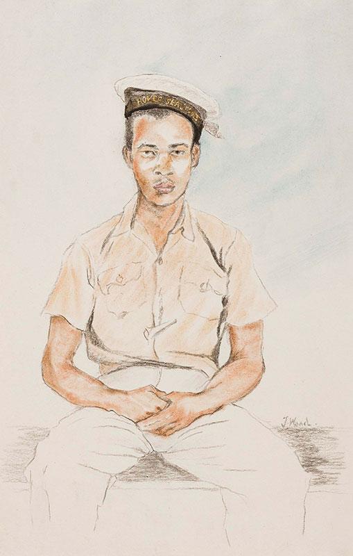 WOOD John Harold (fl.1950s) - 'Rover Sea Scout', Jamaica.