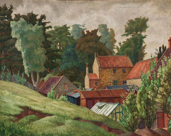WOOD Frank (1904-1985) - Back gardens, Co.