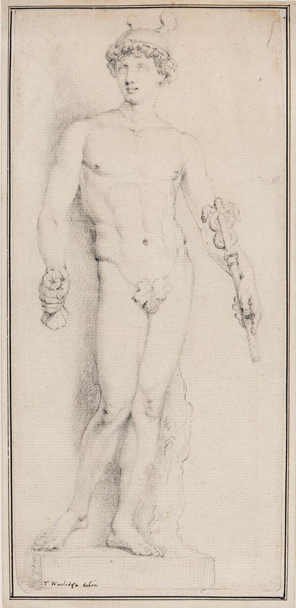 WORLIDGE Thomas (1700-1766) - Mercury; sculpture study.