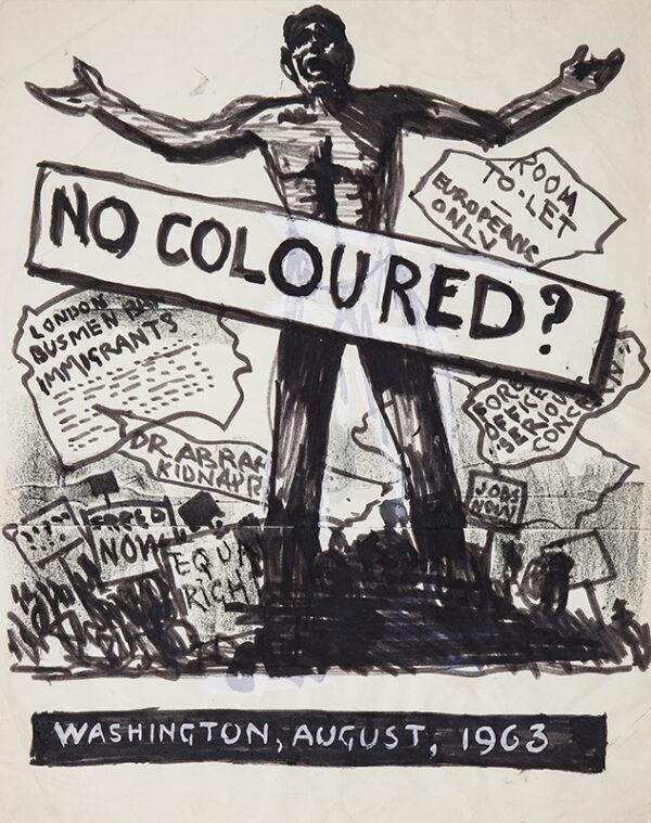 WRAGG Arthur (1903-1976) - Washington Race Riot, August, 1963.