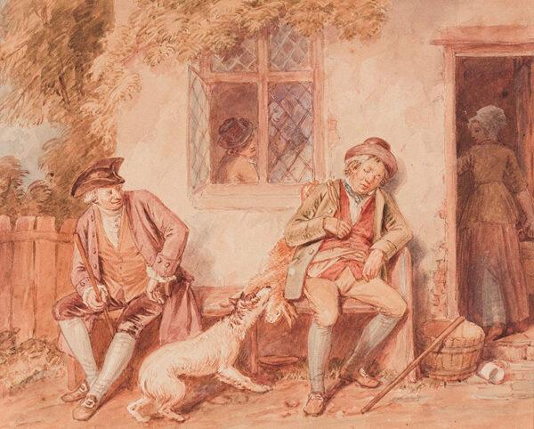 WRIGHT John Masey O.W.S (1777-1866) - The Poacher.