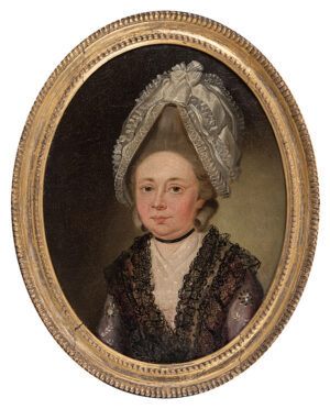 WRIGHT Joseph (1756-1793) (Attributed to) - Head of a Lady.