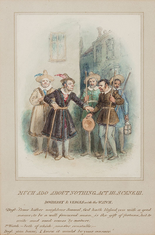 WRIGHT John Masey O.W.S (1777-1866) - 'Much Ado About Nothing.