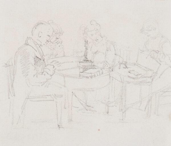 WYATT Henry (1794-1840) - An evening party.