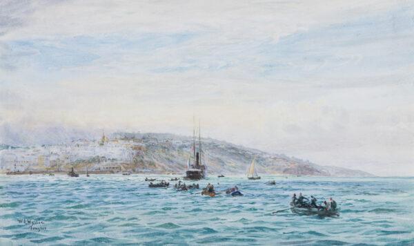 WYLLIE William Lionel R.A. R.E. N.E.A.C. (1851-1931) - 'Tangier'.