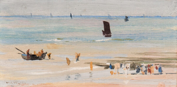 WYLLIE William Lionel R.A. R.E. N.E.A.C. (1851-1931) - Fishing boats landing on the Normandy Coast.
