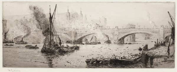 WYLLIE William Lionel R.A. R.E. N.E.A.C. (1851-1931) - The Thames and Cannon Street.