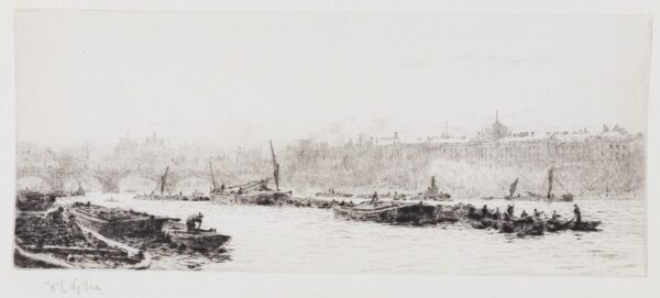 WYLLIE William Lionel R.A. R.E. N.E.A.C. (1851-1931) - 'The Pool of London'.