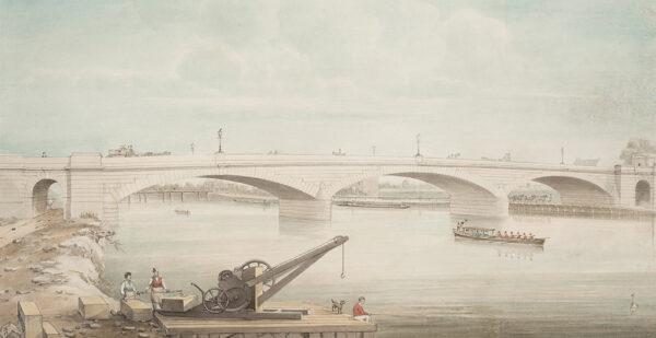 YATES Gideon (fl.1827-1837) - Staines Bridge.