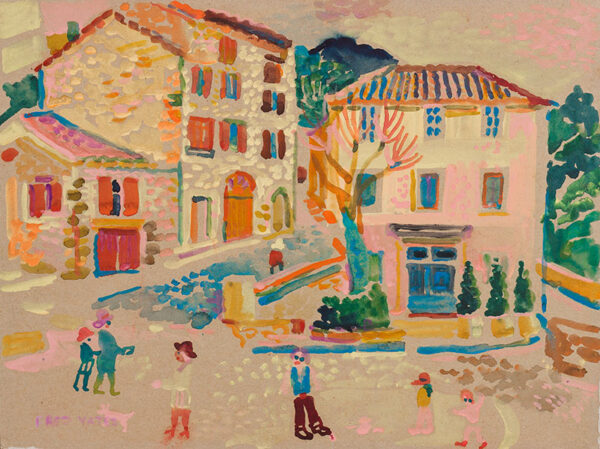 YATES Fred (1922-2008) - Village in Provence.