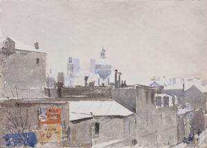 ZUBER Henri (1844-1909) - Paris under snow.