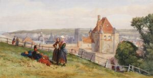 ABSOLON John (1815-1895) - View over Dieppe from the cliffs above the Chateau.
