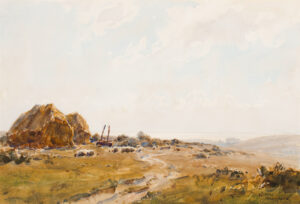 ACKERMANN Arthur Gerald R.I. (1876-1960) - 'The Downs at Shoreham'.