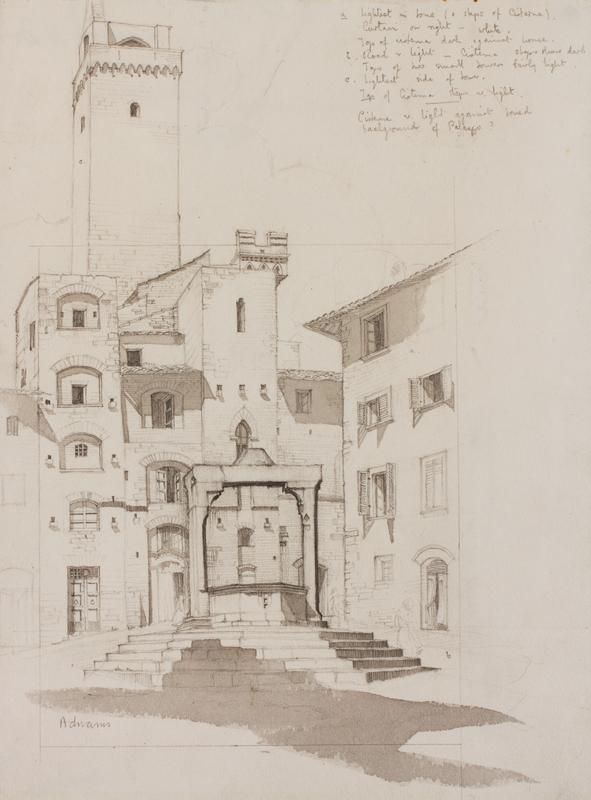 ADNAMS Marion (1898-1995) - San Gimignano Bell Tower.