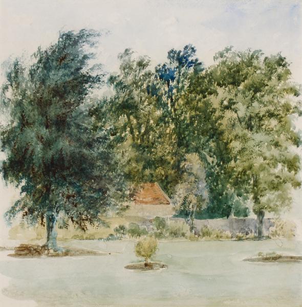 AGLIO Agostino Jnr (1816-1885) - 'Autumn in the Cotswolds'.