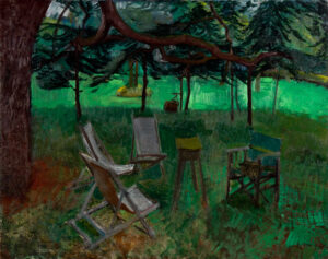 ALDRIDGE John R.A. (1905-1983) - The artist's garden, Great Bardfield.
