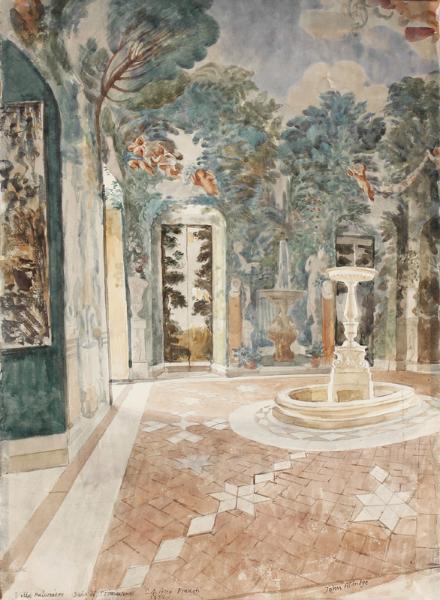 ALDRIDGE John R.A. (1905-1983) - 'Sala de Primavera, Villa Falconiere, Frascati'.