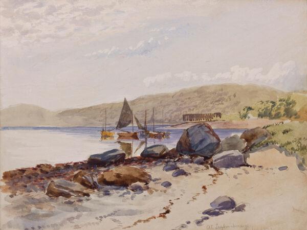 ALLAN Robert Weir R.W.S. (1851-1942) - 'At Tignabruaich'.