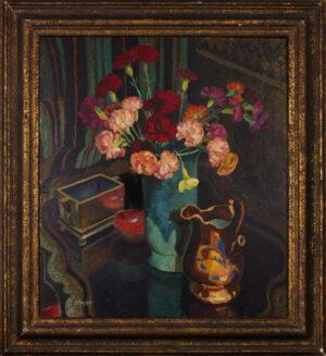 ALLINSON Adrian R.O.I. L.G. (1890-1959) - Carnations: still-life.