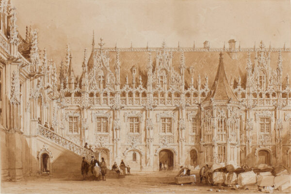 ALLOM Thomas (1804-1872) - The Palace of Justice, Rouen.
