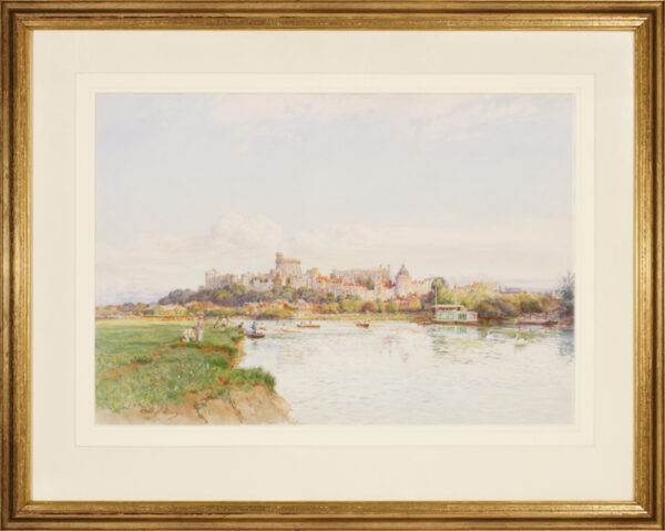 ALTHAUS Fritz (1865-1952) - Windsor Castle from the Thames.
