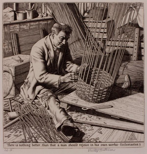 ANDERSON Stanley C.B.E. R.A. R.E. (1884-1966) - 'The Basket Maker'.
