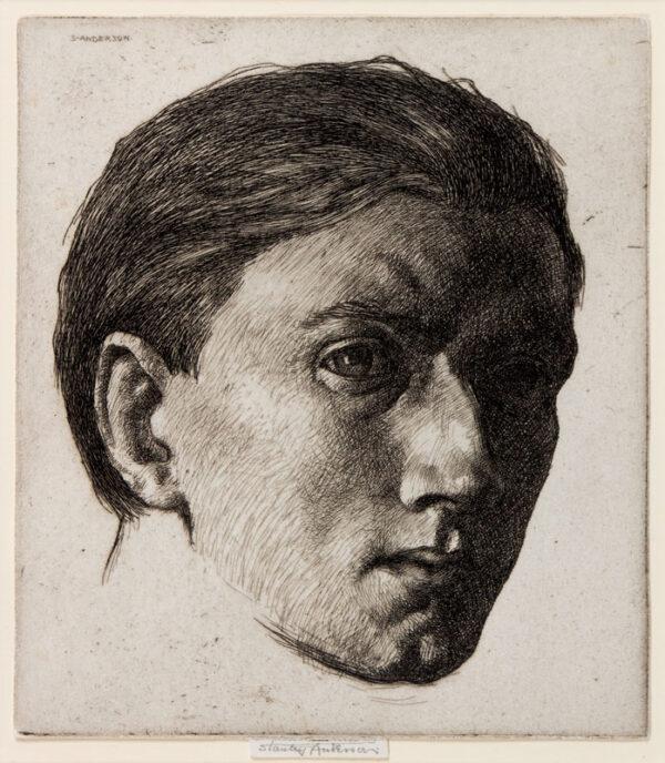 ANDERSON Stanley C.B.E. R.A. R.E. (1884-1966) - Self-portrait.