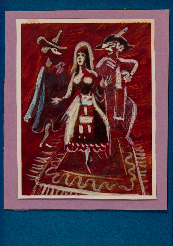 ANDREU Mariano (1888-1976) - 'Don Juan, La Gitana and the Jester' in the Gipsy Dance, Act 11, of Fokine's 'Don Juan' for the Ballets Russe de Monte Carlo, 1936.
