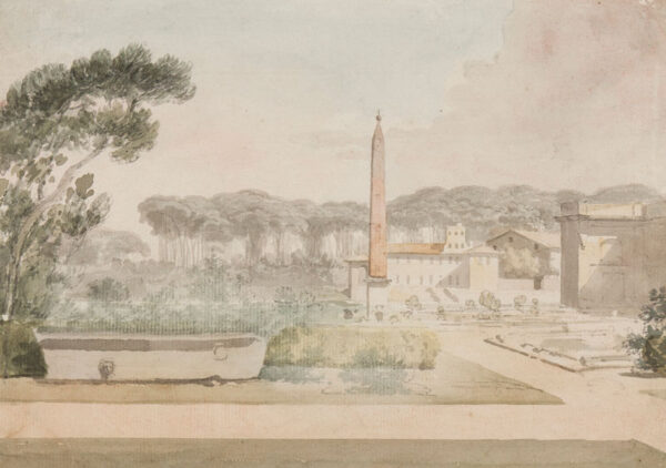 ROME (subject) ANON. Circa 1800. - The Villa Celimontana (Mattei) on the Caelian Hill.