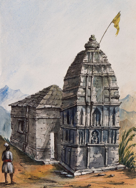 INDIA (Subject) - Eighteen anonymous watercolours from an album of works dated between 1857-1873.