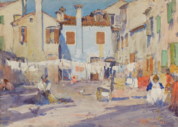 APPERLEY George Owen Wynne R.I. R.A. (1884-1960) - Venetian campo.