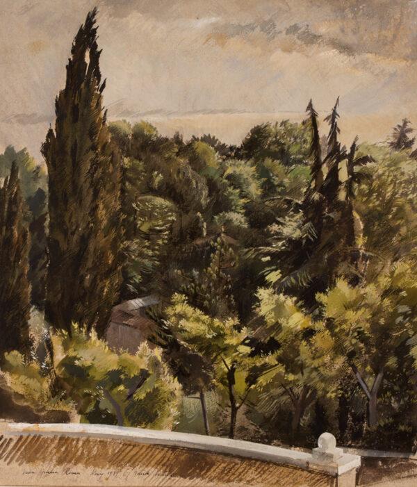 ARCHER Frank R.W.S. R.E. (1912-1995) - 'Villa Giulia, Roma'.