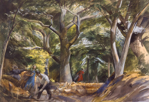 ARCHER Frank R.W.S. R.E. (1912-1995) - 'Sulhay Forest', Northamptonshire.