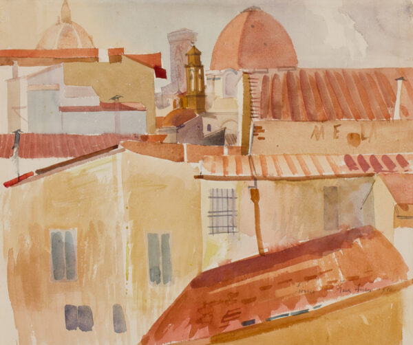 ARCHER Frank R.W.S. R.E. (1912-1995) - The roofs of Florence.