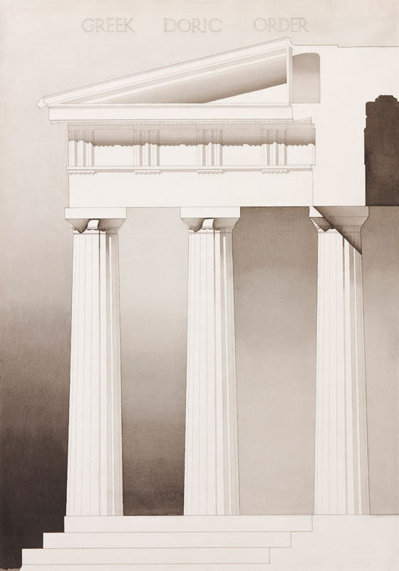 ARCHITECTURE (Student Exercise) S. Linssen - 'Greek Doric Order'.