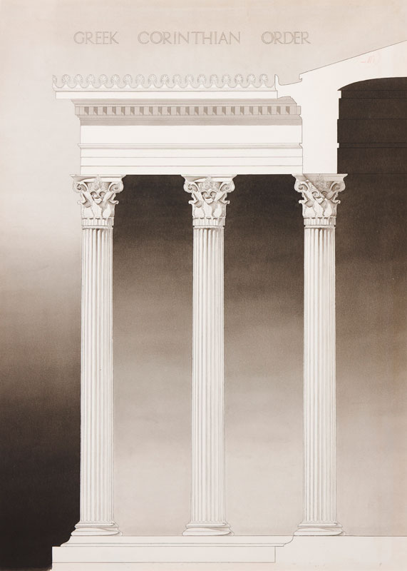 ARCHITECTURE (Student Exercise) S. Linssen - 'Greek Ionic Order'.