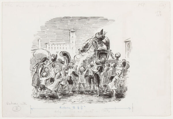 ARDIZZONE Edward R.A. (1900-1979)  Provenance: The artist's estate. - 'The King of Tripoli brings the Pasta'.