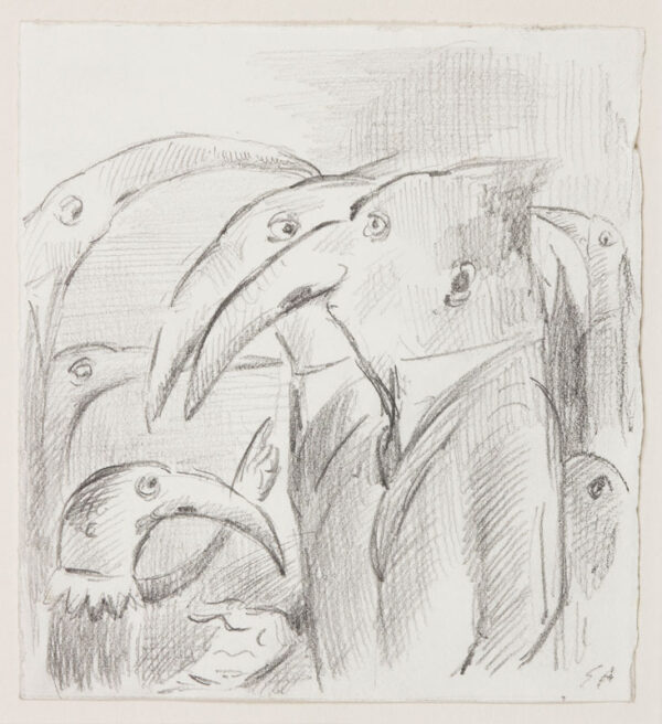 ARDIZZONE Edward R.A. (1900-1979)  Provenance: The artist's estate. - Pelican noses – Grotesques.