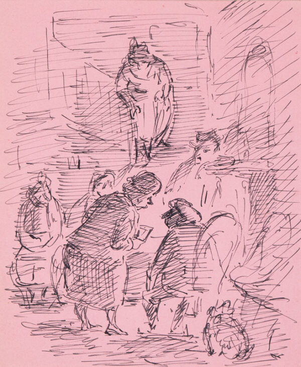 ARDIZZONE Edward R.A. (1900-1979)  Provenance: The artist's estate. - Drinkers by a Pub fire.
