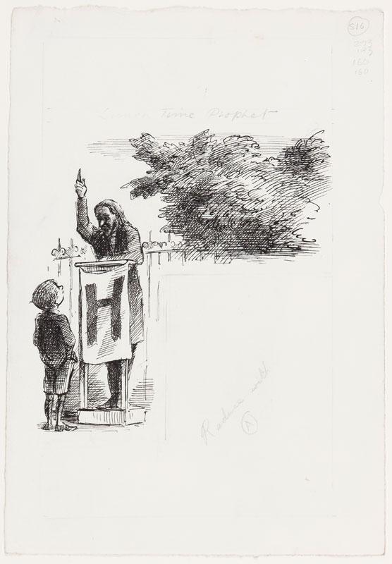 ARDIZZONE Edward R.A. (1900-1979)  Provenance: The artist's estate. - 'Lunch-time Prophet'.