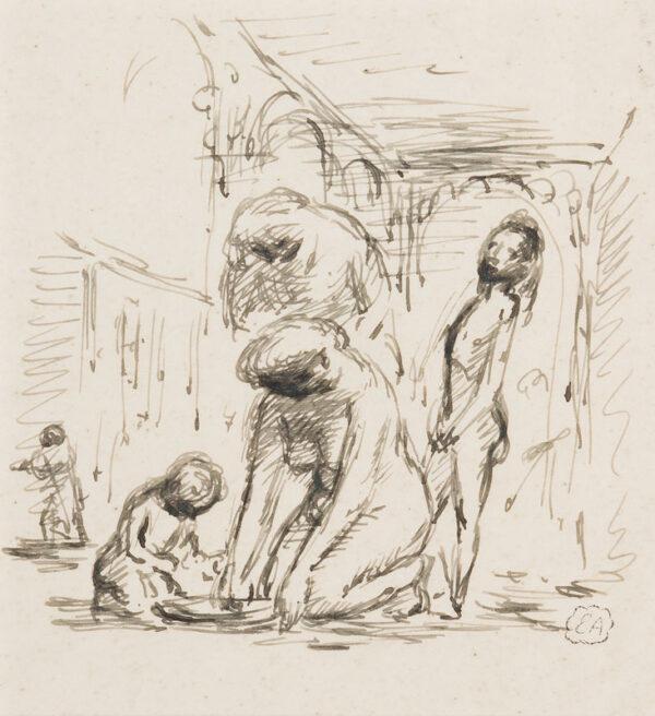 ARDIZZONE Edward R.A. (1900-1979)  Provenance: The artist's estate. - Italian women bathing.