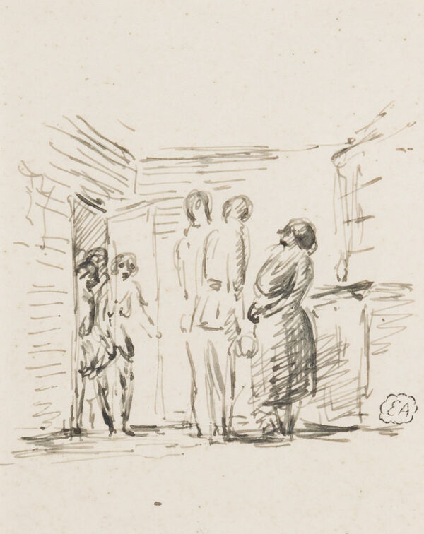 ARDIZZONE Edward R.A. (1900-1979)  Provenance: The artist's estate. - Officers and a Madam.