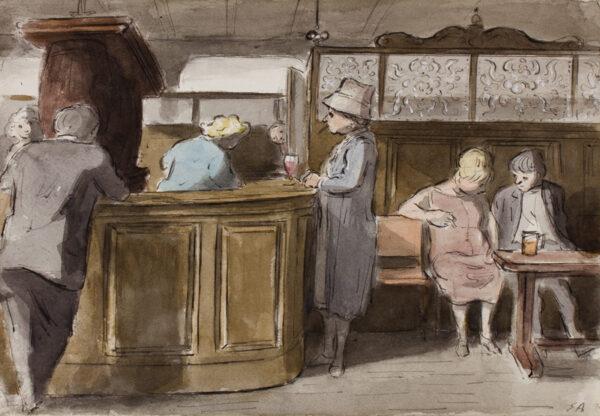 ARDIZZONE Edward C.B.E. R.A. (1900-1979) - Pub bar, Maida Vale.
