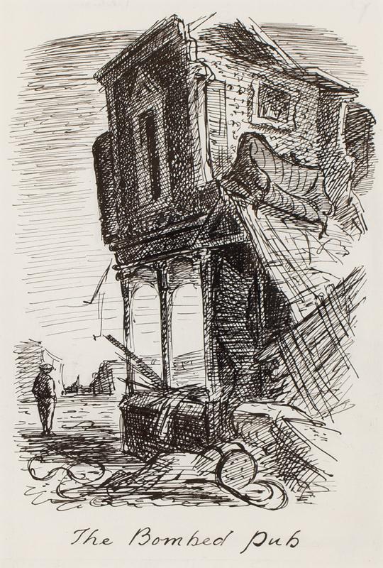 ARDIZZONE Edward C.B.E. R.A. (1900-1979) - 'The Bombed Pub'.